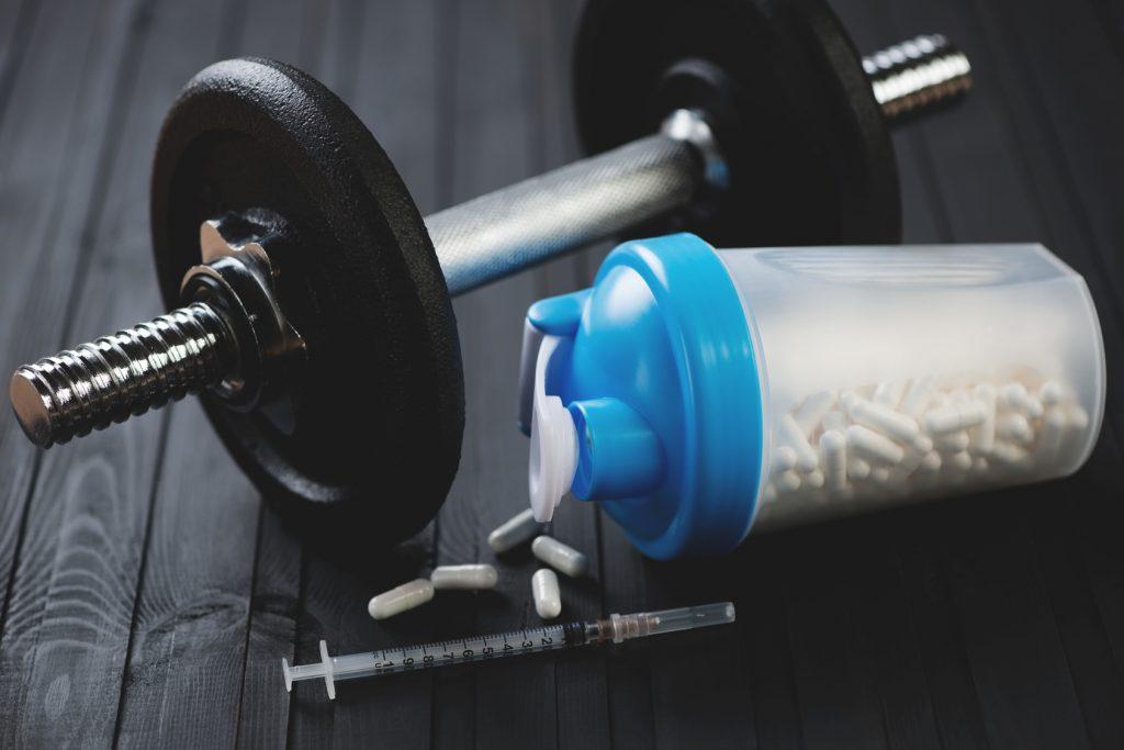 Steroids concept, horizontal shot