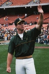 Mark McGwire, 1989. By Silent Sensei from Santa Cruz, USA (Oakland A's) [CC BY 2.0], via Wikimedia Commons