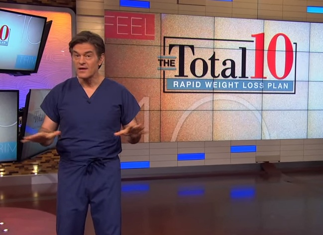 "Dr. Oz may have a hard time justifying miracle claims for ""rapid weight loss."""