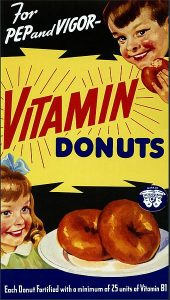 "Wishful thinking... By The U.S. Food and Drug Administration (Ad for ""Vitamin Donut"" (FDA 168)) [Public domain], via Wikimedia Commons"