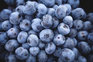 Blueberries possess high contents of Resveratrol AND Pterostilbene.