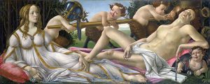 Venus and Mars by Sandro Botticelli [Public domain], via Wikimedia Commons