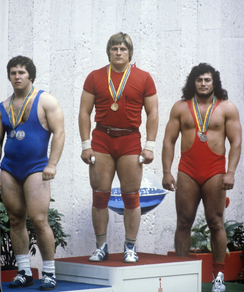 Adaptogens were reputedly used by Russian Olympic athletes in training and competition. XII Olympic Games. Winners of the weightlifting competition, 110 kg division. Soviet weightlifter Leonid Taranenko, center, got the gold medal. RIA Novosti archive, image #484445 / Dmitryi Donskoy / CC-BY-SA 3.0 [CC BY-SA 3.0], via Wikimedia Commons