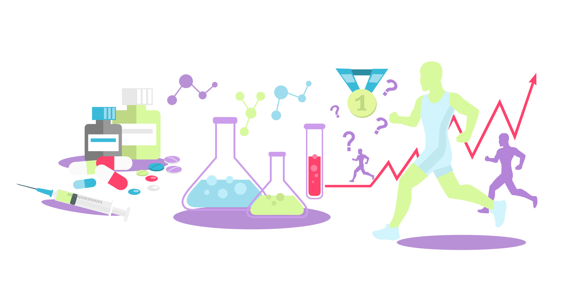 Pharmacology in Sport Icon Flat Isolated