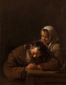 "Michiel Sweerts' 1650 ""Sleeping old man and girl"" (a.k.a. NADH deprivation)"
