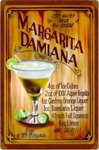 Tin ad for Margarita Damiana