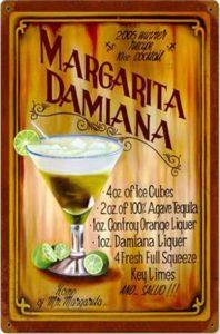 Tin ad for Margarita Damiana
