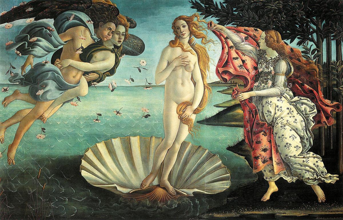 """Botticelli's """"Nascita di Venere"""" (or """"The Birth of Venus"""")"""