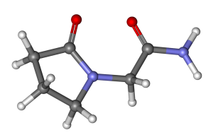 Chemical structure of Piracetam, the main racetam compound.