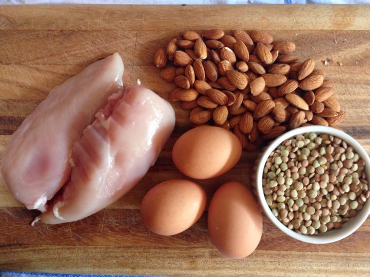 Some examples of protein-rich foods.