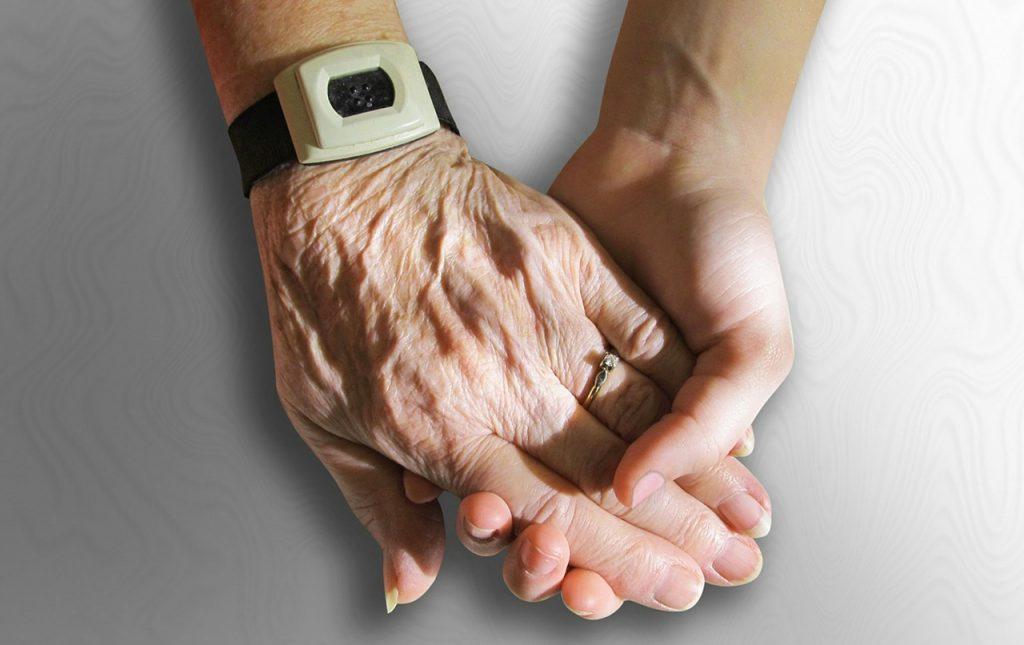 hands skin aging