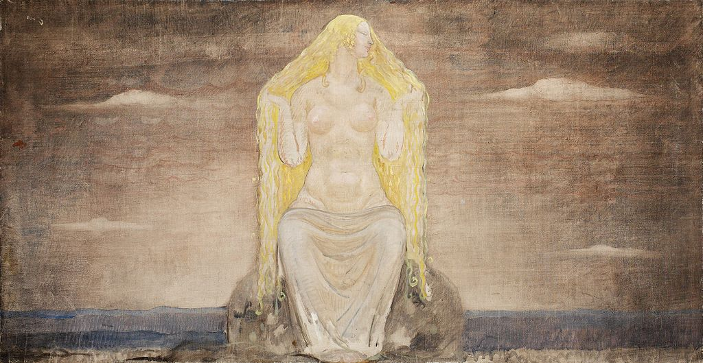 The goddess Vanadis, or Freyja. John Bauer [Public domain], via Wikimedia Commons
