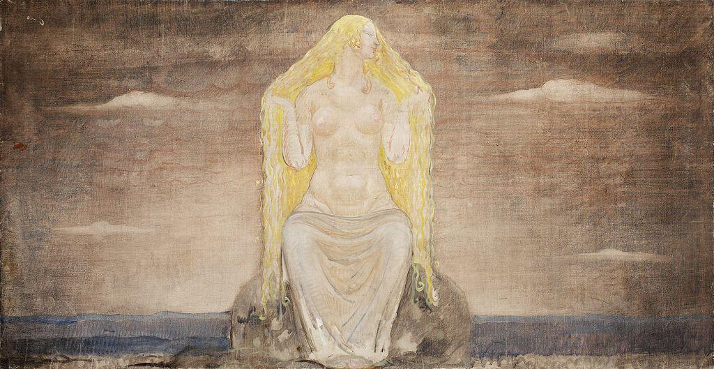 The goddess Vanadis, or Freyja. John Bauer [Public domain], via Wikimedia Commons