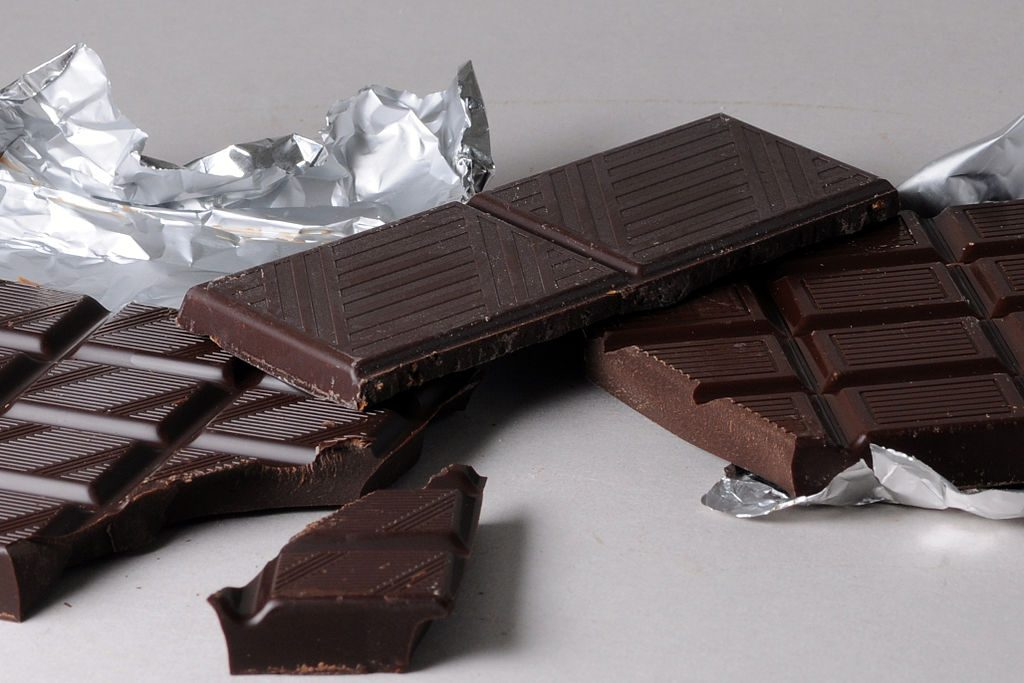 Chocolate is a good source of theobromine.