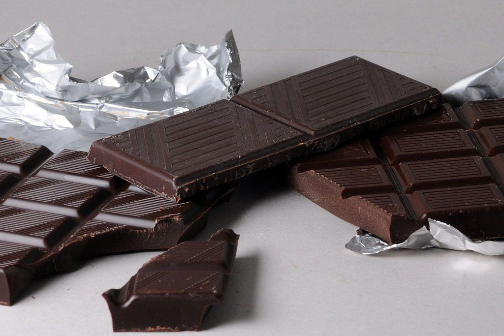 Chocolate is a good source of theobromine.