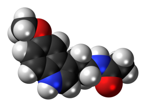 Melatonin. By Jynto [CC0], via Wikimedia Commons