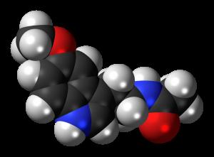 Melatonin. By Jynto [CC0], via Wikimedia Commons