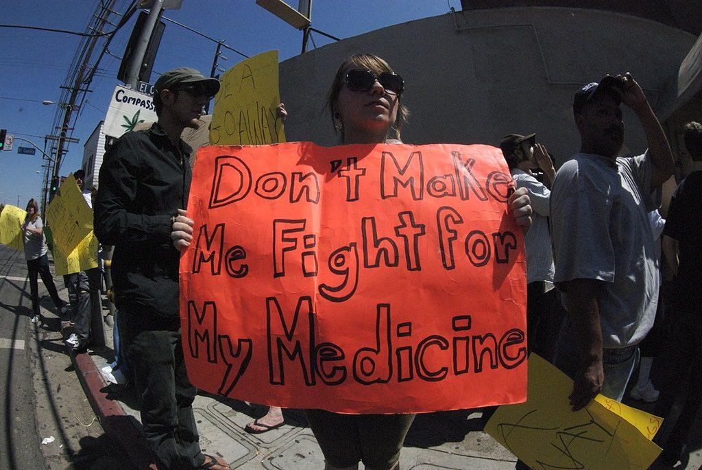 DEA protesters medicinal marijuana CBD