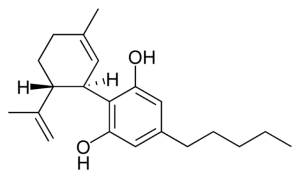 Cannabidiol chemical structure